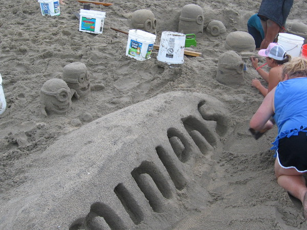 Of course, there were Minions. Lots of Minions. Oodles of 'em. They were popping out of the sand everywhere you turned.