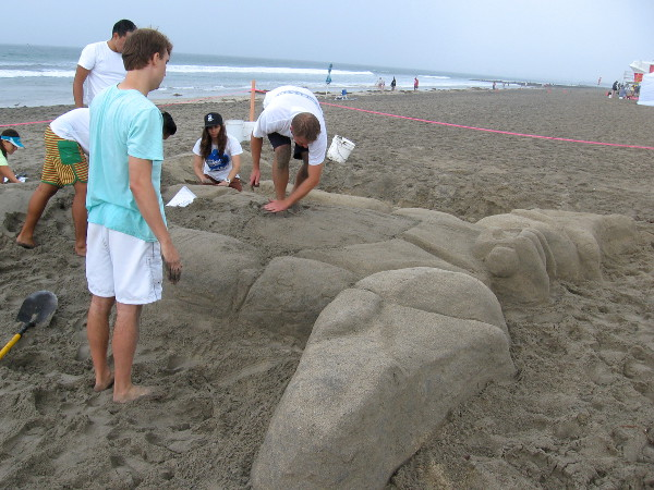 Lastly, I spotted Baymax of Big Hero 6 being created out of sand. Lots of sculptures at the family friendly festival appealed to kids.