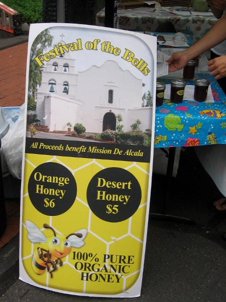 Proceeds from sales of food, crafts and gifts benefited Mission Basilica San Diego de Alcala, which is an active Catholic church.