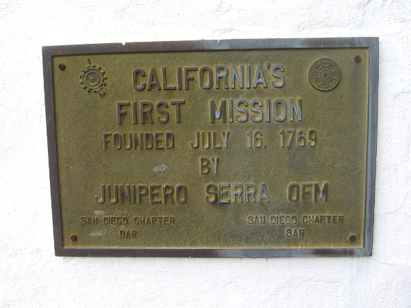 San Diego de Alcalá was the first of 21 Spanish mission in California, established by Father Junipero Serra in 1769.