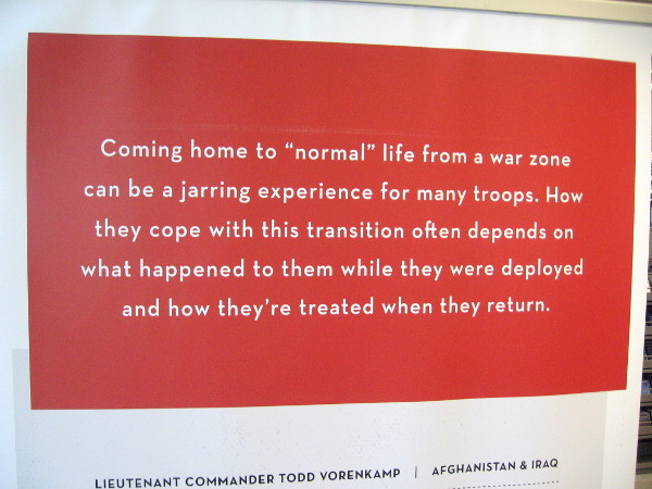 Coming home to normal life from a war zone can be a jarring experience for many troops.
