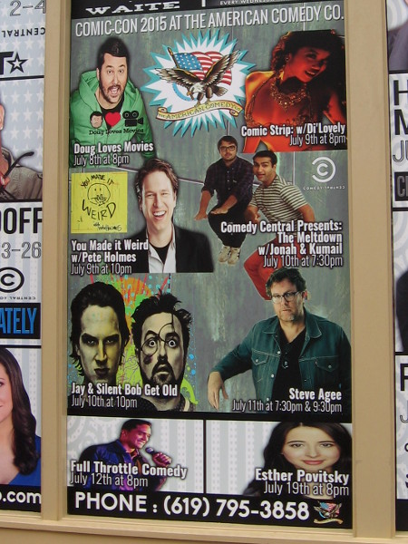 The American Comedy Co. in the Gaslamp has a funny lineup set for Comic-Con, including Jay and Silent Bob.