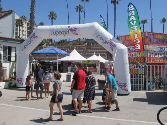 Just walking along the huge event venue, checking out interesting sponsors, vendors, food, and fun surf-related stuff.