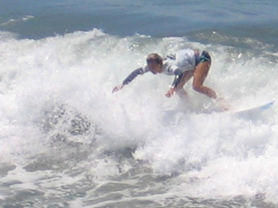Amazing athlete in Sunday's competition at the 2015 Supergirl Pro, the largest female surfing event of its kind in the world.