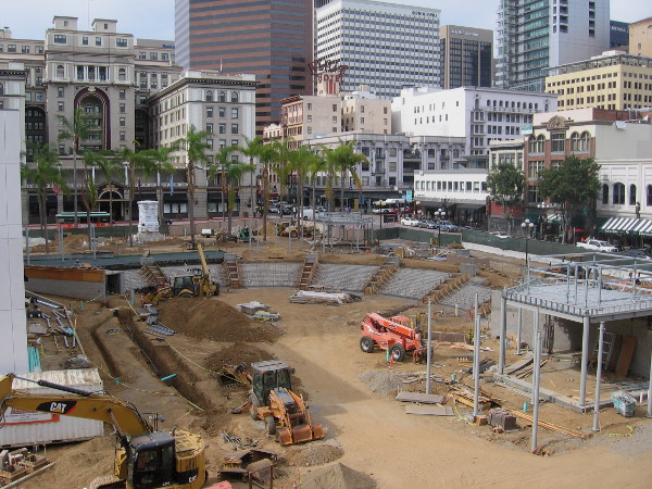 Photo of Horton Park construction taken in late June 2015.