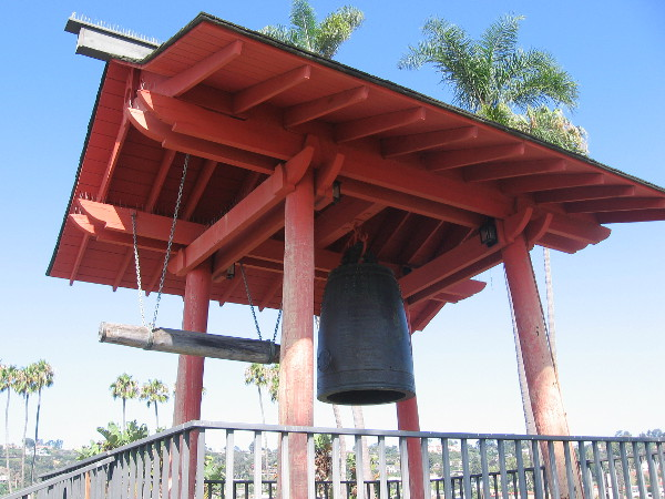 A simple but meaningful pavilion stands at the west end of Shelter Island. It holds the Bell of Friendship.