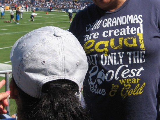 Shirt declares that all grandmas are created equal, but only the coolest wear blue and gold!