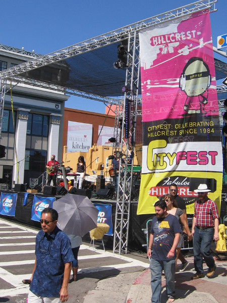 Main stage at CityFest features live music from noon until almost midnight.