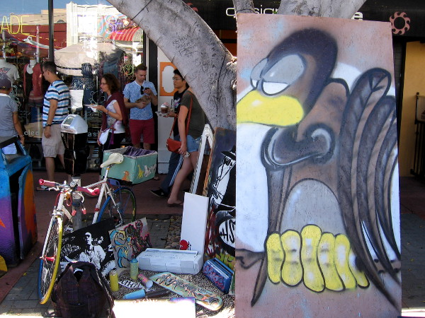 Funky art could be spotted all around CityFest, as well as the usual street festival stuff including lots of food.