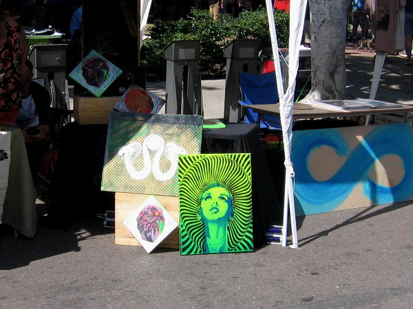 Many local artists had their work on display and for sale at CityFest in Hillcrest.