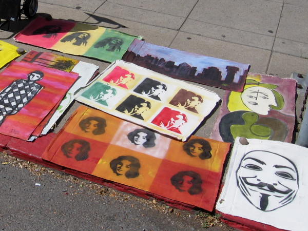 Colorful pop art seems to be a favorite at this annual street festival.