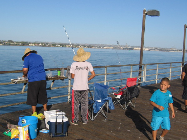 Another easy, carefree day of fishing at the Embarcadero Marina Park Pier in downtown San Diego.