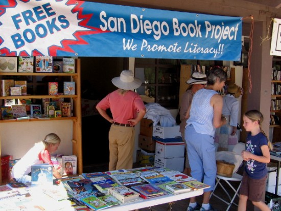 San Diego Book Project promotes literacy both locally and worldwide. They were present at TwainFest in Old Town.