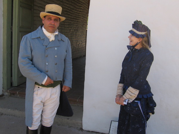 These two friendly folks in period costume were greeting visitors at the entrance to the Casa de Estudillo.