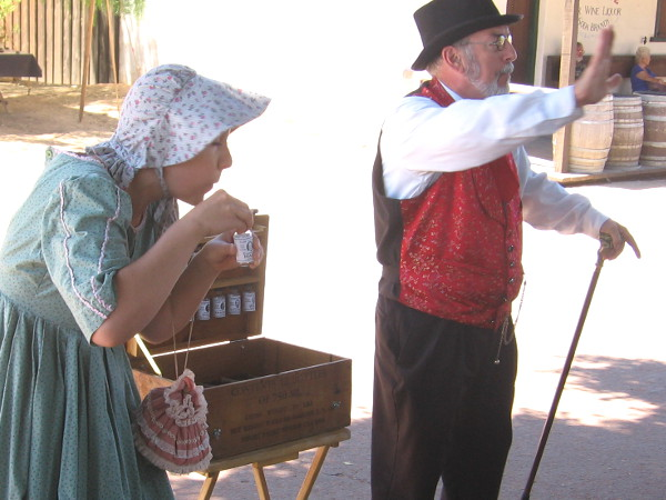 This mild, ordinary lady in a bonnet demonstrated what happens when one sniffs essence of Emily Dickinson. She recited breathless poetry for minutes on end.