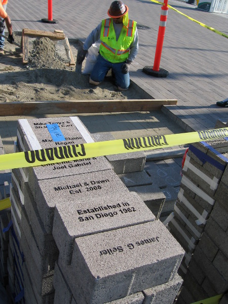 Anyone can place their name on a permanent paver to help support improvements to the North Embarcadero. Custom plaques on furniture, like public benches and tables, are also available.