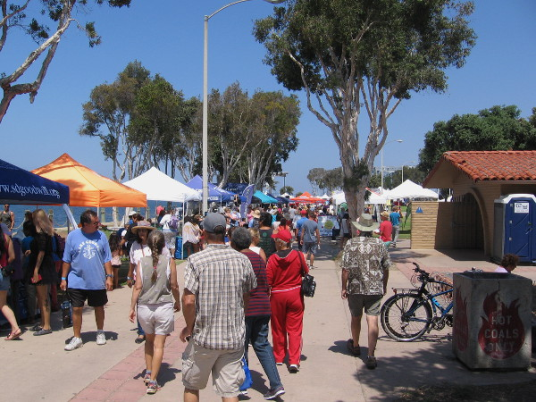 Colorful canopies with vendors, community organizations and businesses were up and down the Chula Vista public park's walkways.
