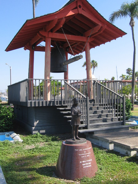 The Japanese Friendship Bell is one of several landmarks that can be seen along the length of San Diego's park-like Shelter Island.