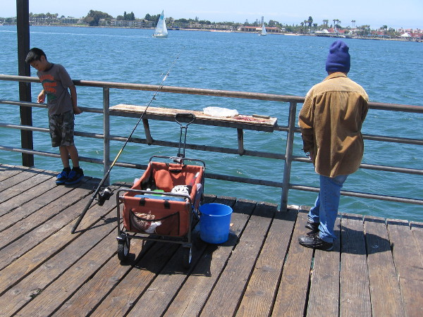 Fishing friendship and life on a downtown pier cool for San diego pier fishing