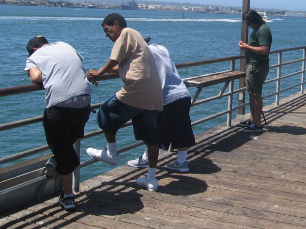 Just spending some time on the pier, relaxing, talking, enjoying life among friends and fellow fishermen.