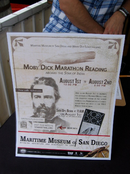 The Maritime Museum of San Diego and Write Out Loud created a cool event that hopefully becomes a yearly tradition.
