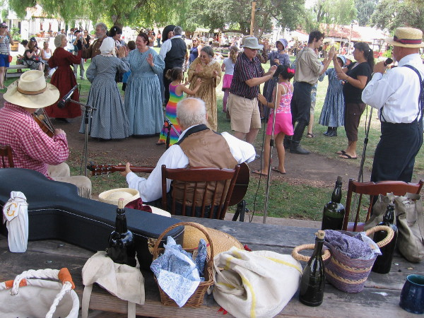 Of course, a good historical reenactment of the Old West requires lively music and enthusiastic dancing.