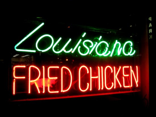 Great Wall Express located on Broadway downtown has yummy Lousisiana Fried Chicken, as you can plainly see!