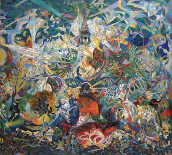 Joseph Stella, Battle of Lights, Coney Island, Mardi Gras, 1913, Oil on canvas. Yale University Art Gallery.