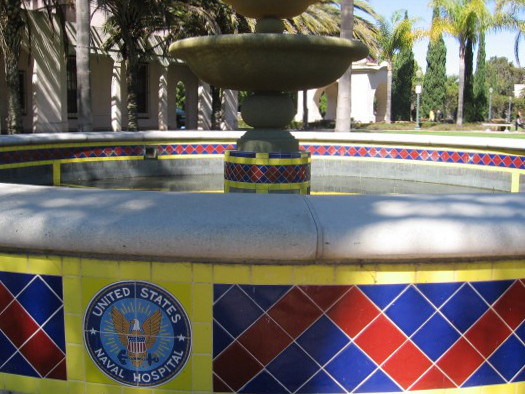 Fountain in the Balboa Park Administrative Building Courtyard was once part of San Diego's United States Naval Hospital.