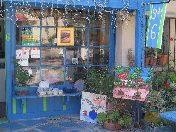One of many small artist studios in this very cool corner of San Diego's Balboa Park.