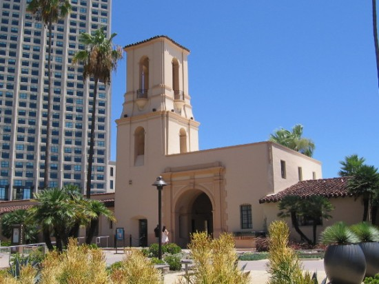 This beautifully restored building now contains shops and restaurants on San Diego's waterfront. Built in 1939, it served for half a century as the city's central police station.
