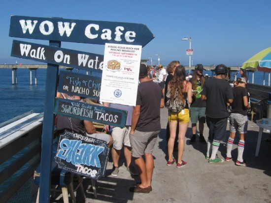 The Ocean Beach Municipal Pier was the place to eat an awesome pancake breakfast this morning!
