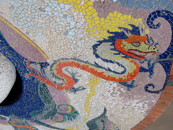 East. A dragon representing China.