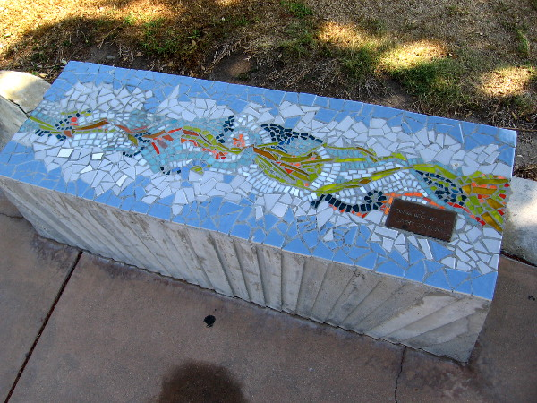 Another artistic bench. This is a good spot to watch sailboats and ships on the nearby water.