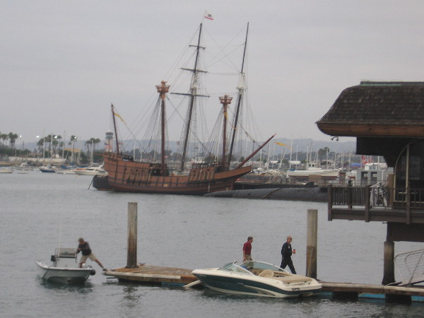Galleon san salvador docked at maritime museum cool san for Anthony s fish grotto san diego