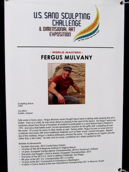 Fergus Mulvany is from Dublin, Ireland. He studied fine art and became a sand artist as a student by chance!