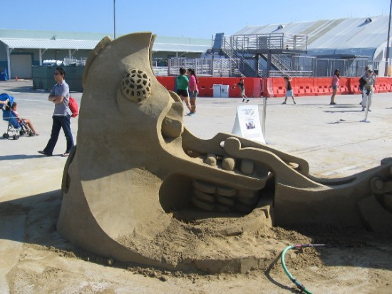 This sand sculpture was quite fantastic and left much to the imagination