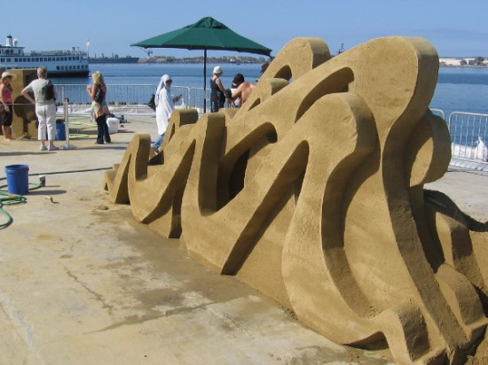 Eleven amazing works of art on the B Street Pier. Plus there are other team sand sculptures getting started, and a few finished pieces by event sponsors. Lots of cool stuff!