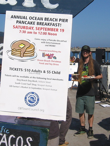 The Annual Ocean Beach Pier Pancake Breakfast raised funds for the Ocean Beach Christmas Food and Toy Drive.