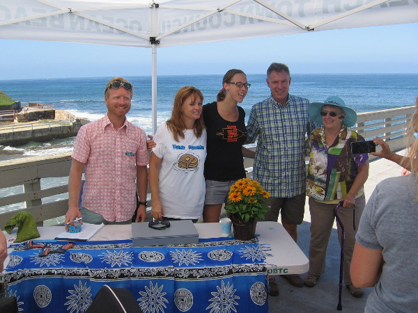 The Ocean Beach Town Council puts on the cool event. Some people bought tickets at the foot of the pier from Team Pancake members!