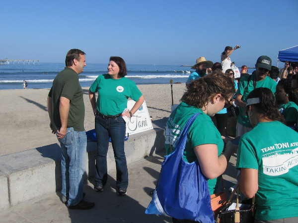 Speaker of the California State Assembly Toni Atkins had a team helping to clean up the beach!