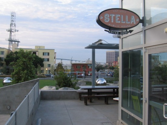 Stella Public House restaurant in East Village is located right next to the cool new Fault Line Park.