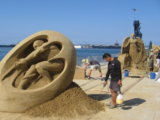 As of this moment, these are the finest sand sculptures in the whole wide world. In a few days...they vanish! Go see them now, if you can!