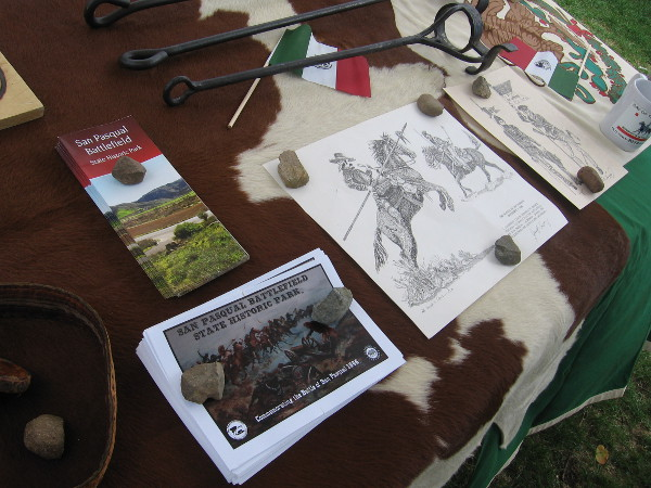 Many tables contained interesting info and exhibits. This one featured sketches from the Battle of San Pasqual and some cattle brands from historic Mission San Diego de Alcalá.