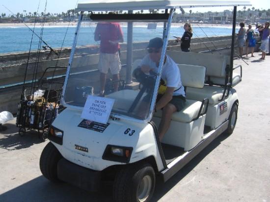 Here comes the OB Pier Pancake Breakfast Shuttle!