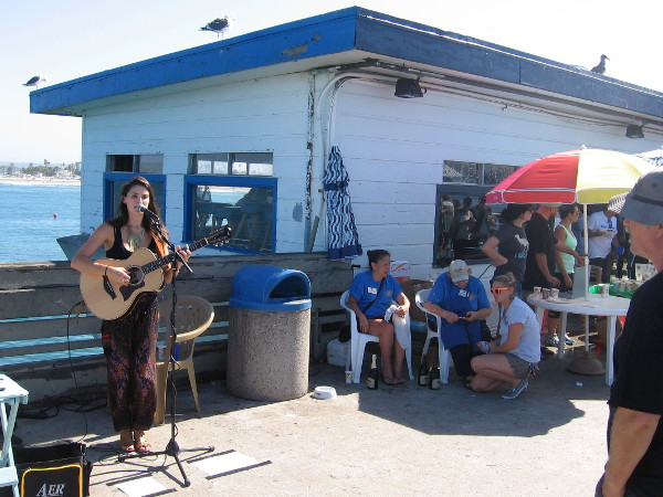 There was even live music just outside the pier's unique cafe high over the Pacific Ocean.