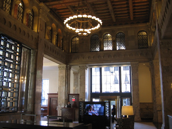 The welcoming interior of a modern hotel. An historical building smartly preserved and repurposed.
