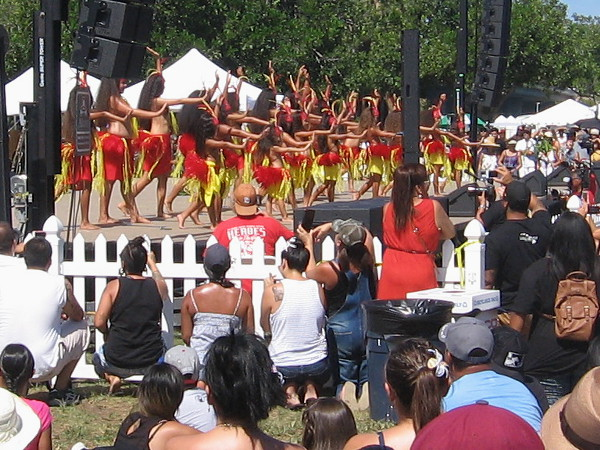 Youthful dancers on stage were a favorite of the crowd.