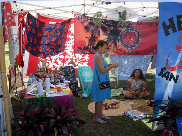The Heiva San Diego tent contained colorful Tahitian sights.