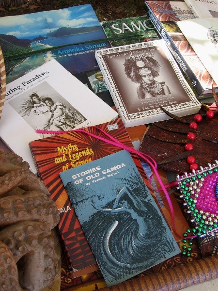 Books include Myths and Legends of Samoa.